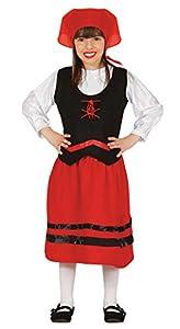 Guirca- Disfraz infantil de pastorcita, Color rojo, 3-4 años (42755.0)