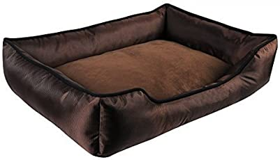PETSMAKER (Brown) All Seanson Double Side Use Lovely (Large Size) Fabric Dog & cat Solid t Bed