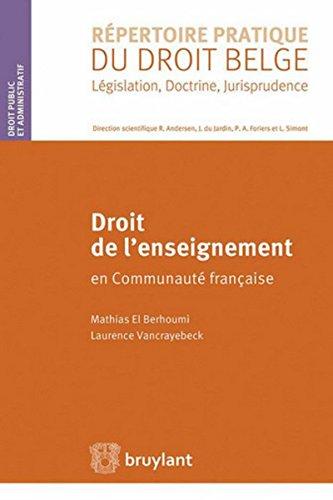 Droit de l'enseignement en Communauté française par Mathias El Berhoumi
