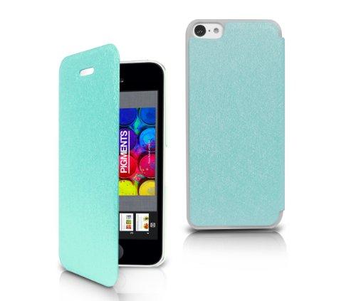Orzly - Swift Stand Case pour Apple iPhone 5C - BLANC Solide Protecteur iPhone Etui / Housse avec Support Intégré pour Apple iPhone 5C - 2013 budget iPhone 5 modèle version (5C) Bleu