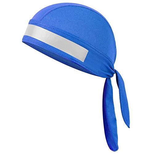 Piraten-Kopftuch schweißabsorbierend Beanie Stirnband Sport Kopfbedeckungen Schutz schnell trocken Anti-UV Wandern Schädel Mütze(Blau)
