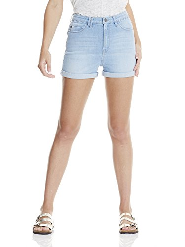Bench High Waisted Short Pale Blue, Pantaloncini Donna Blau (blue Light Worn Dw1024)