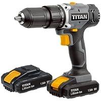 Titan Cordless 18V 1.5Ah Li-Ion Combi Drill with 2 Batteries (TTI699COM)