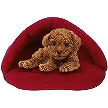 Yihya® Alta Calidad Cálido Mascotas Sacos de Dormir Waterloo de Mascotas Gato Nido Camas de Animales Domésticos Conejo Nido Mascota Casa ( Extra Pequeño : 28*38cm)---------vino rojo