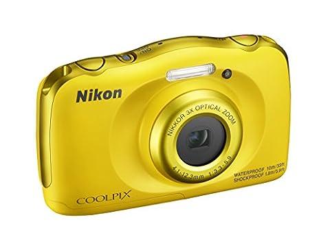 'Nikon COOLPIX W100Digitalkamera kompakt, 13,2Megapixel, LCD 3, Full HD, Gelb [Nital Card: 4Jahre Garantie]