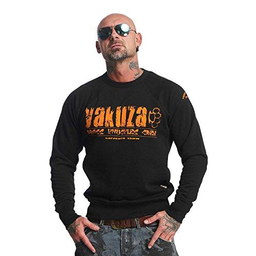 Yakuza Original Herren Brass Knuckles Pullover Sweater - Schwarz - Gr. 4XL