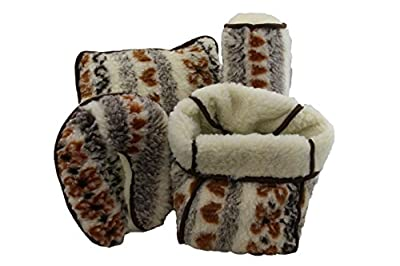 Lammflor-Serie Sesselschoner Kuschelkissen Nackenhörnchen Nackenrolle Fußwärmer Oberbett Bettüberwurf - Gemustert