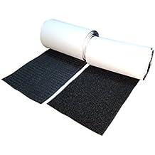 10cm Ancho 1 metros largo Juego sistema de enganche y sujeción auto adhesivo con reverso súper adherente Tela de nylon sujetadora Negro