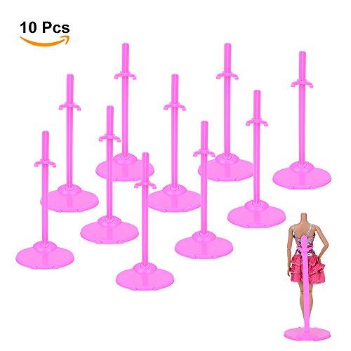ASIV 10 Stück Puppe Display ständer Modell Unterstützung Frame Prop für Barbie, rosa
