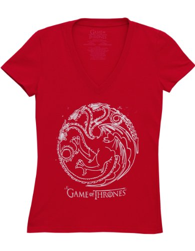 T-shirt Game of Thrones Targaryen Red V-neck maglia Donna ufficiale (S)