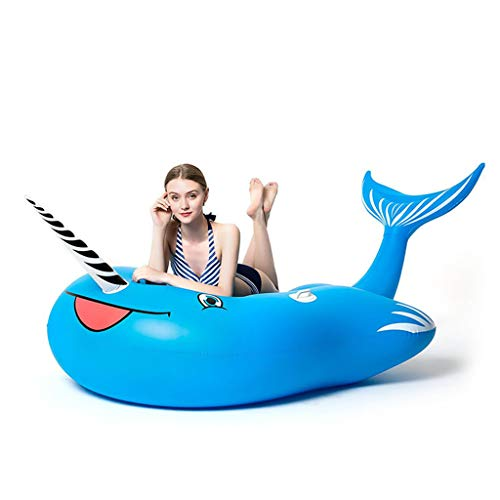 LCYCN Aufblasbarer,Riesen-aufblasbare Ride-ons-Pool Rafts, PVC-Shof-Schwimmbecken, Schwimmbad-Loungers für Beach,230x110x130cm
