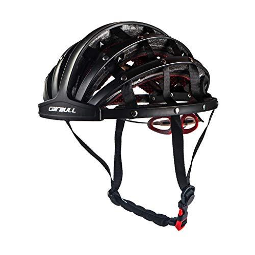Louyihon-Neue Hochwertige Faltradhelm Helm Motorrad Hummel Helm Ultraleichten Unisex Fahrradhelm 56-62 cm Iron Man Helm (Schwarz)