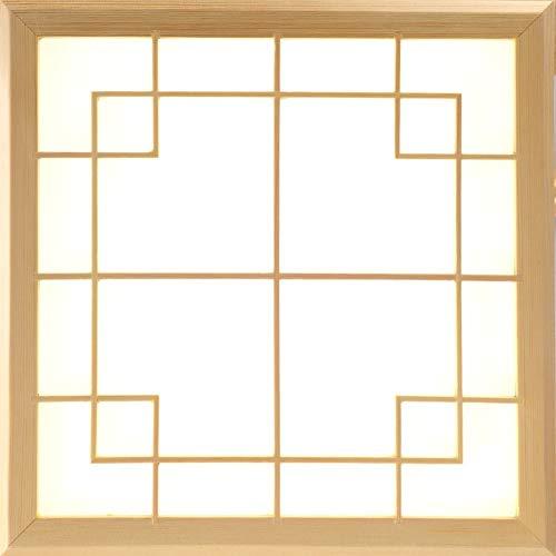 DEED Home Schlafzimmer Deckenleuchte, Deckenleuchte Holzlampe Led-Lampen Massivholz Tatami Raumlampe Lichter, Dimmbare Deckenleuchte Schlafzimmer mit Fernbedienung Schlafzimmer Protokolle Warmes Lich - - Deckenleuchte Geschmiedet