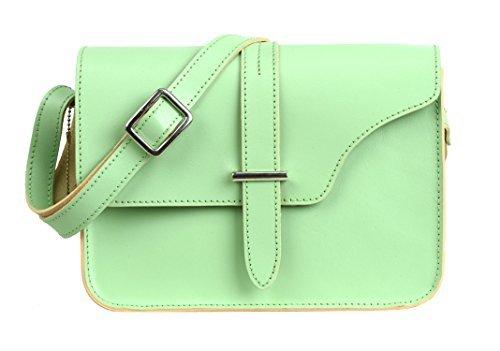 leaderachi–100% Pure echtem Modische glatt Leder handgefertigt Damen Umhängetasche Crossover Messenger Sling Bag [