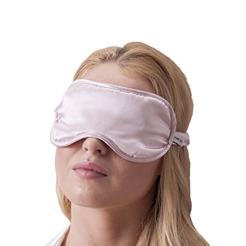 100% Seta Mascherina per dormire 100% Silk Sleep Eye Mask, colore: Pink