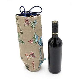 Flaschentasche, Tasche für Weinflasche, Wein Verpackung, Flaschenhülle, Geschenktasche Wein, Wiederverwendbare…
