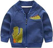 Haotong - Chaqueta de Bebé Niños de Algodón con Bordado Dinosaurio para Otoño Primavera Sudadera de Niñas con