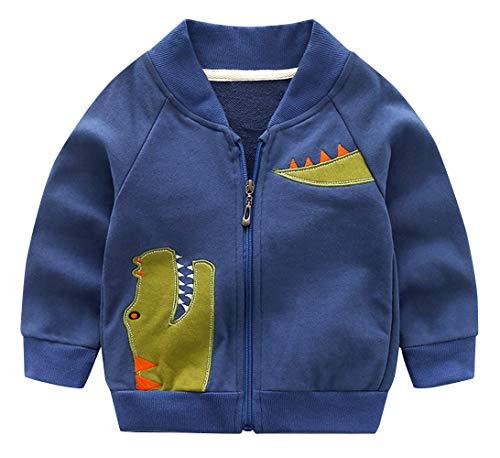 Haotong - Chaqueta Infantil Niños con Bordado Dinosaurio Algodón para Otoño Primavera...
