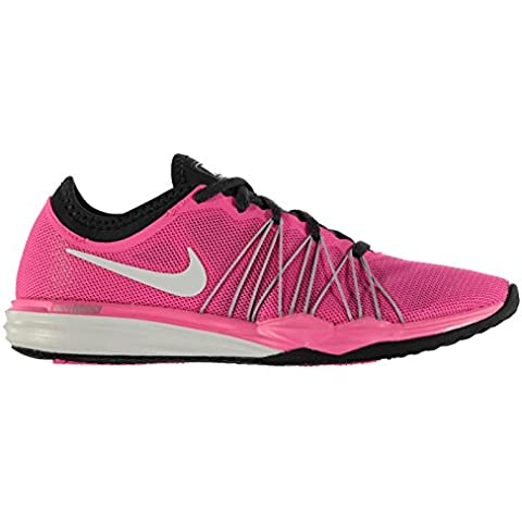 Nike Dual Fusion TR Hit da donna scarpe da corsa rosa/bianco Run Scarpe Sneakers, Pink/White, (UK5) (EU38.5) (US7.5)