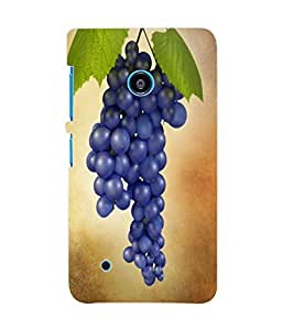 Fuson 3D Printed BlueBerry Designer Back Case Cover for Nokia Lumia 530 - D891
