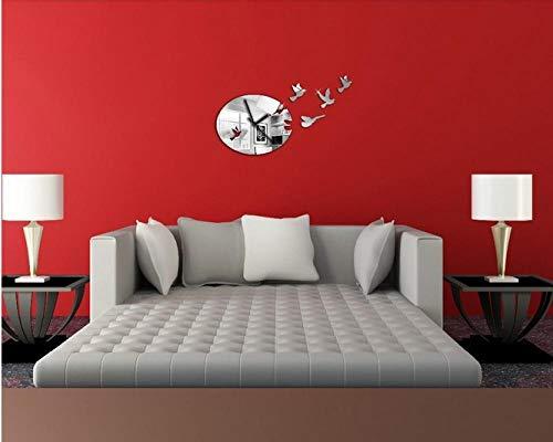 ZZSXC Digitale Wanduhr Retro Design Home Decoration Aufkleber Selbstklebende Moderne Home Wohnzimmer Schlafzimmer Dekoration, A655