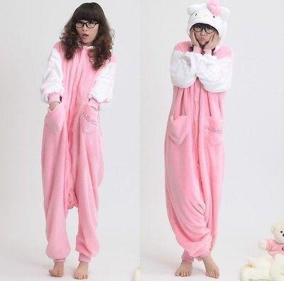Fash!on2U Hot Unisex-Erwachsene Pyjama Kigurumi Cosplay Kostüm Tierkostüm -