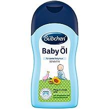 Bübchen Baby Öl für zarte Baby-Haut, Körperöl zur Pflege und Reinigung (mit Sheabutter und Sonnenblumenöl) 2 x 400 ml