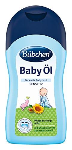 Bübchen Baby Öl für zarte Baby-Haut, Körper öl zur Pflege und Reinigung, 2er Pack (2 x 400 ml)