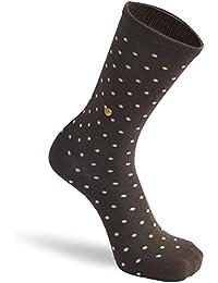 The Moja Club Men's Socks - Brown Polka Dots - Premium Cotton, High Quality Socks