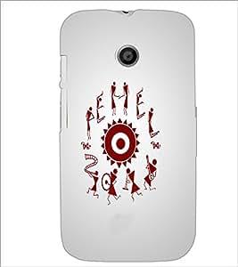Printdhaba Abstract Image D-4957 Back Case Cover For Motorola Moto E