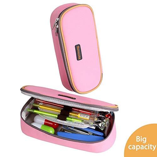 Homecube astuccio portamatite, spazioso, per cancelleria di studenti, colore rosa