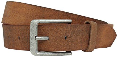 Gusti Gürtel Damen Herren Leder - Lane Ledergürtel Damengürtel Herrengürtel Braun 85 cm