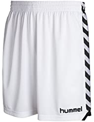 Hummel Shorts Stay Authentic Poly - Pantalones cortos, color blanco, talla L