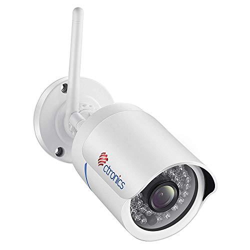 Überwachungskamera Aussen WLAN, Ctronics WLAN IP Kamera Outdoor WiFi 1080P HD, 30m Nachtsicht, Bewegungserkennung, Email-Alarm für PC, Smartphone,Tablet, CMS Fernzugriff
