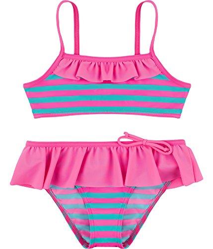 Merry Style Mädchen Bikini Set MSVRKind3 (Rosa/Minze, 146)