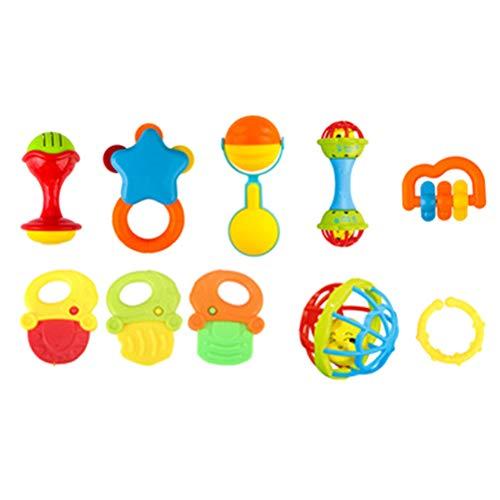 NUOBESTY 10 Piezas sonajeros bebés vibrador agitador
