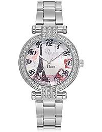 Relojes Relojes de Acero Inoxidable para Mujer Reloj Moda (Color : Plata)