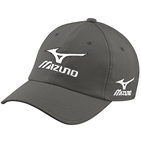 Mizuno Golf 2017 Mens Tour Cap Adjustable Performance Hat Charcoal