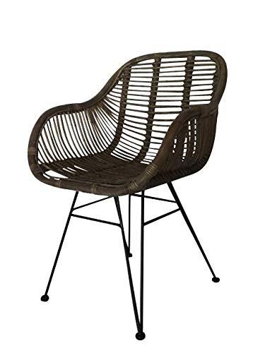 animal-design Chaise en rotin Naturel avec accoudoir