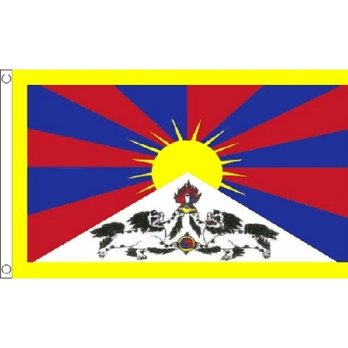 Tibet Flag 5Ft X 3Ft Tibetan Asia Asian Country Banner With 2 Eyelets New by TIBET -