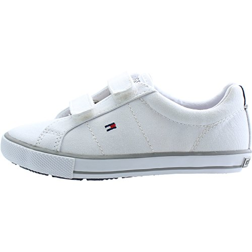 Tommy Hilfiger Sammie 11D1 White Textile Infant Trainers White