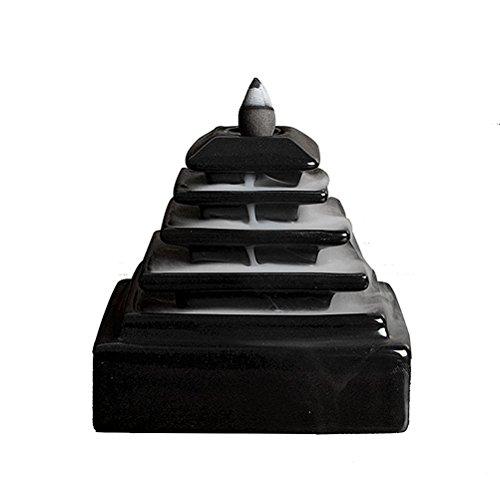 Pixnor en céramique vernis de fumée d'encens cône à clapet censer Tour Support