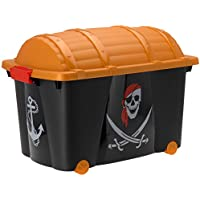 Aufbewahrungskiste Piratenkiste Rollenbox Spielzeugbox Spielzeugkiste (Piraten) preisvergleich bei kinderzimmerdekopreise.eu