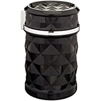 winomo libre de Auto de humo cenicero portátil Auto de cigarrillos Soporte con LED para Universal de Coche (Negro)