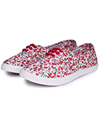 Do Bhai Stylish G-6 Pink Slip On Sneakers For Women