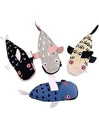 Millya diseño de tiburón 3d forma lápiz bolsa Animal Lienzo estudiantes lápiz caso, color color