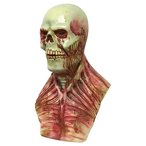 mbie Maske Horror Cosplay Halloween Party Monster Maske Scary Zombie Kostüm Latex Maske ()