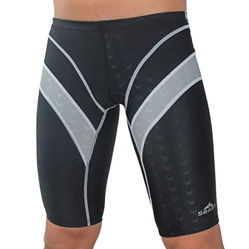 JKHOIUH Herren Light Boxer Coole Badeshorts Leichte Outdoor-Schwimmhose Strandhose for Herren Baumwolle (Farbe : Schwarz, Size : XXL) -