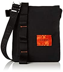 Idea Regalo - Guess Sailor, Borsa a Spalla Uomo, Nero (Black), 2x20x17 cm (W x H x L)
