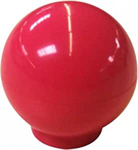 Bouton de porte et tiroir de meuble design rouge fuschia Ø 30 mm, BOULE Couleur